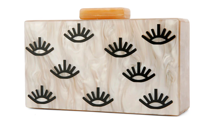 Eyelash Acrylic Clutch/Bag