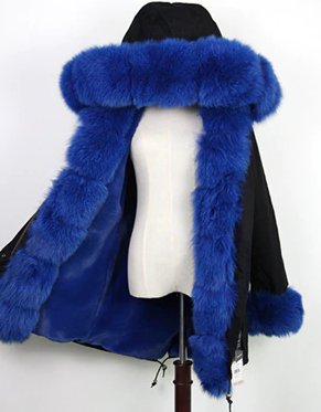 Women's Genuine Fox Fur Parka