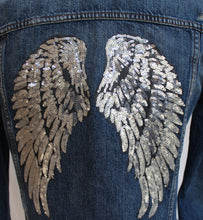 Custom Denim Jacket with Sequined Wing