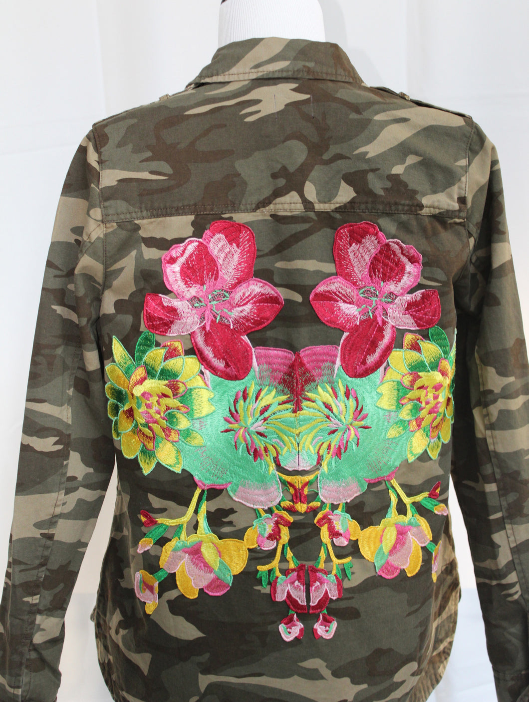 Camouflage Jacket with Flower Power