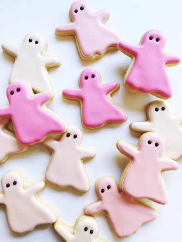 Party Ghosts Gift Box - Pink or White (12)