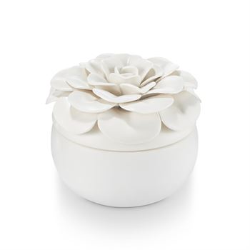Gardenia Ceramic Flower Candle