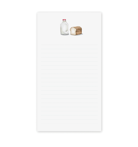 Milk and Bread Notepad