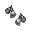 Calla Lily Earrings in oxidized silver