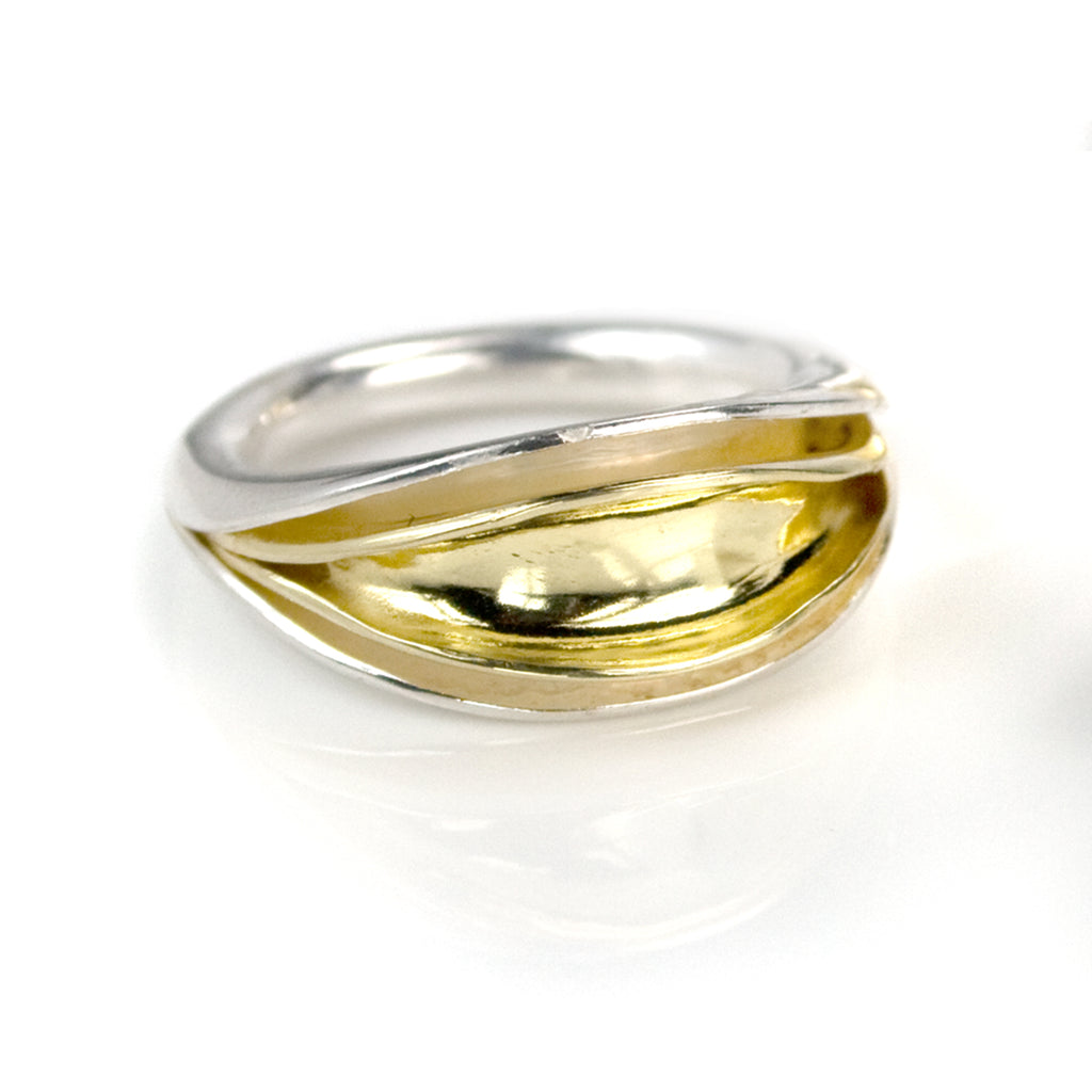 Flourish Layered 18K Ring