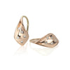 14K Rose Gold and Diamond Flourish Earrings (X small)