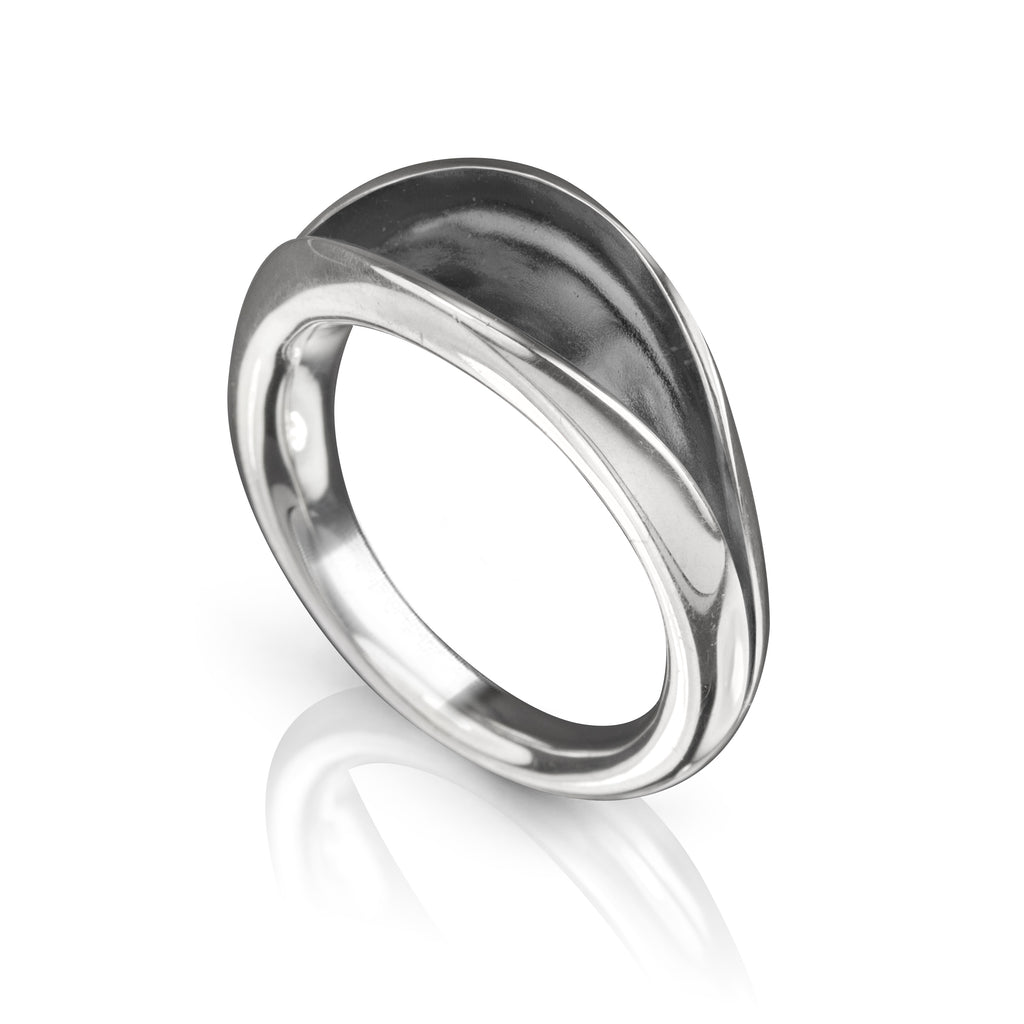 Flourish Ring, oxidized silver