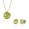Rose Bud Necklace and Stud Earrings in 18K gold