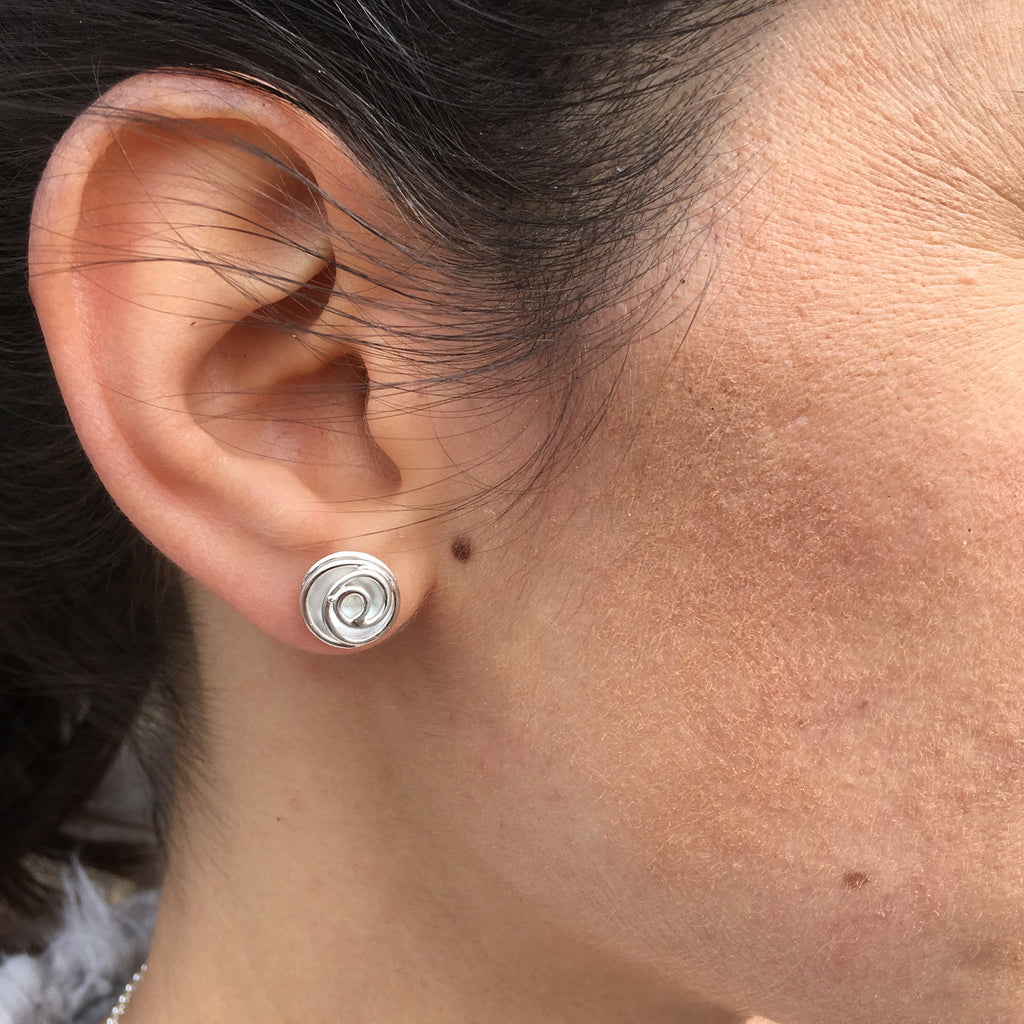 Rose Bud Studs (silver)