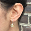 Rose Bud Earrings, gold plated sterling silver