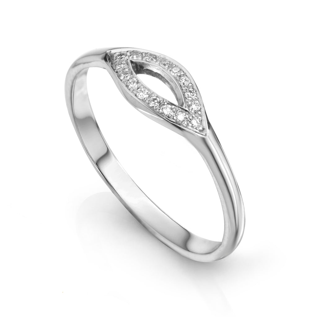 Marquee Ring 14K White Gold