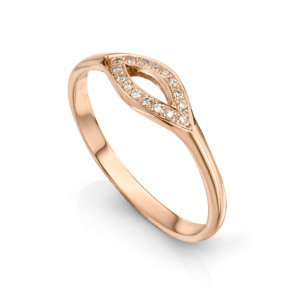 Marquee Ring 14K Rose Gold