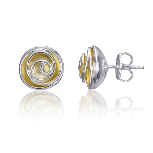 Rose Bud Studs (silver, gold plating)