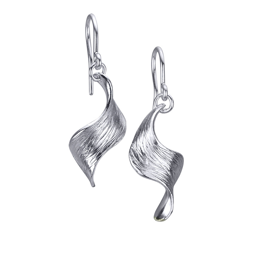Single Wave Earrings with Texture