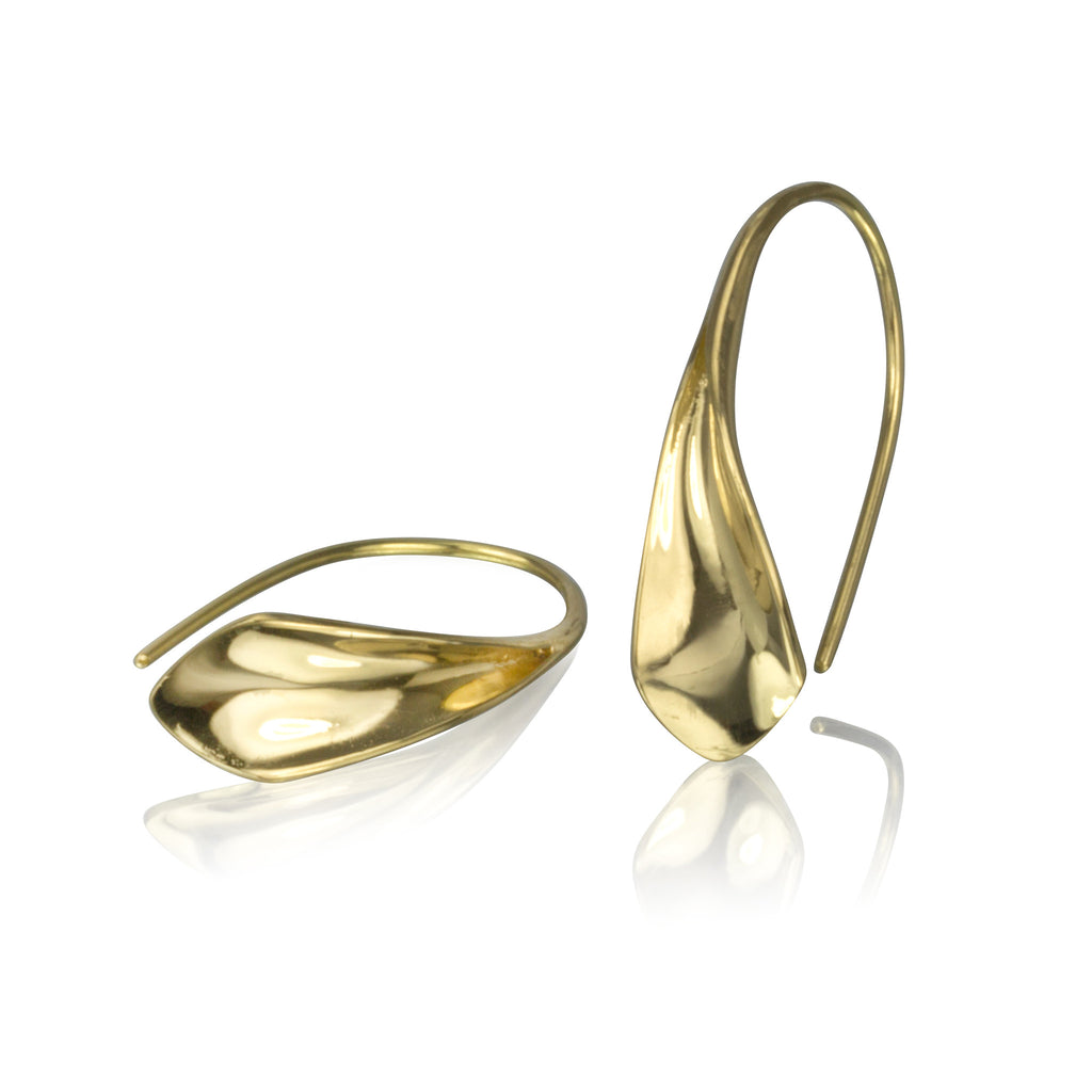 18K Gold Flourish Earrings (small)