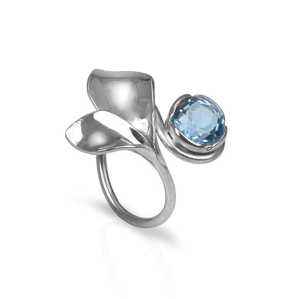 Vine Ring with Blue Topaz