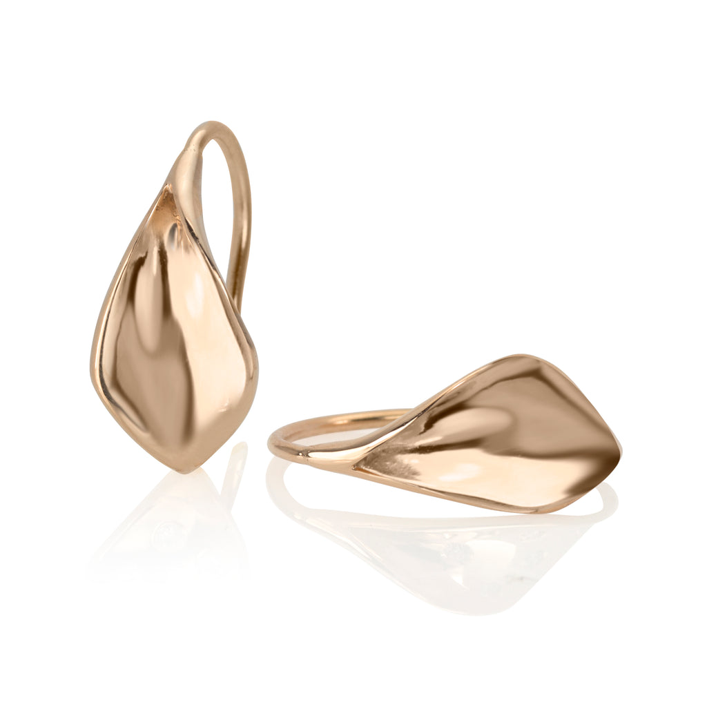 Flourish Earring 14K rose gold (X small)