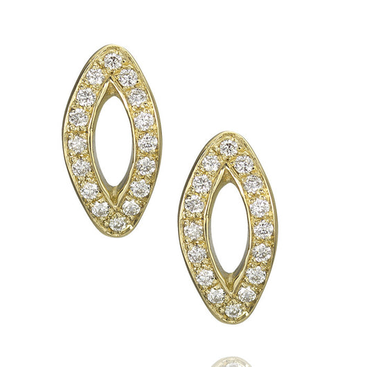 Gold, Diamond and Sapphire Stud Earrings