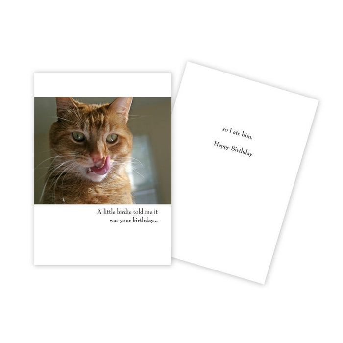 Notecard - Birthday - Ginger Licking Lips - 0012