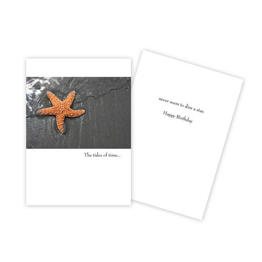Notecard - Birthday - Starfish - 0038