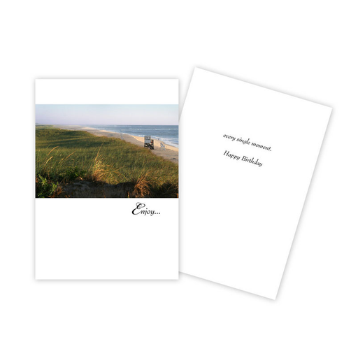 Notecard - Birthday - Beach/Enjoy - 0102
