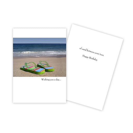 Notecard - Birthday - Flip Flops/Wishing you a Day - 0182