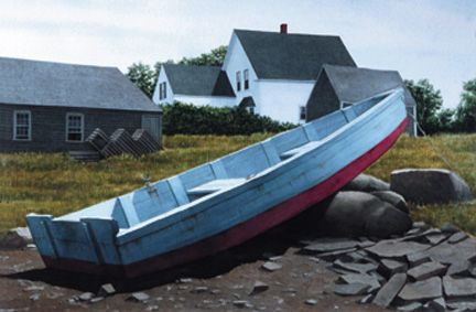 Gift Enclosure Card - Blue Skiff, Cape Porpoise - 33