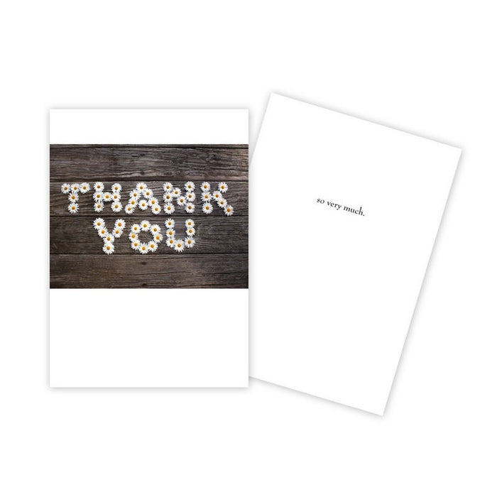 "Notecard - Thank You - Daisies Spelling ""Thank You"" - 0554"