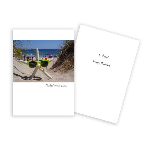 Notecard - Birthday - Starfish with Sunglasses - 0775