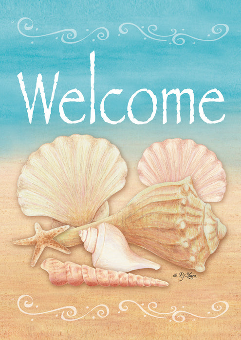 Garden Flag - Welcome Shells - 107073