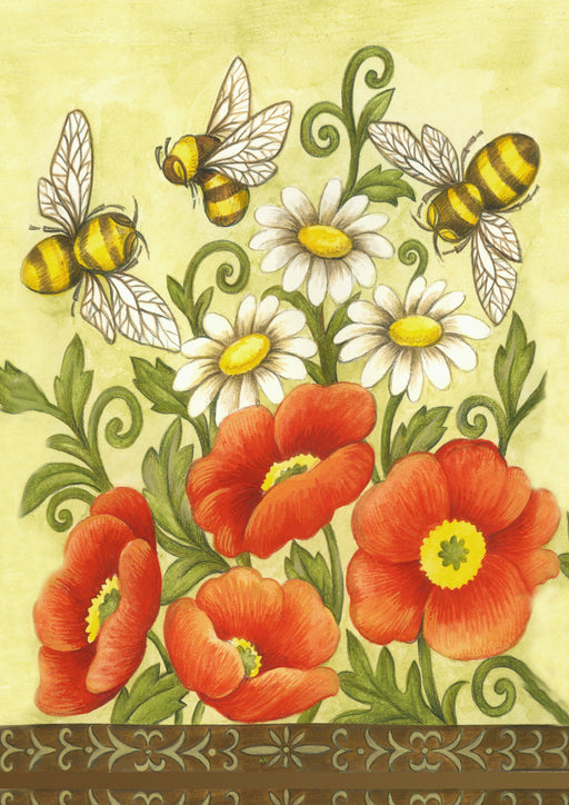 Garden Flag - Bees and Wildflowers - 118340