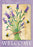 Garden Flag - Lavender Welcome - 110093