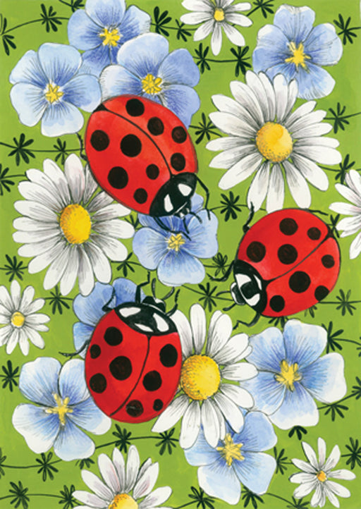 Garden Flag - Flowers & Ladybugs - 111153
