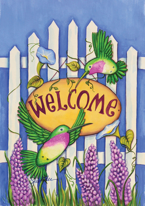 Garden Flag - Welcome Hummingbirds - 112598