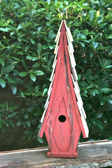 Bird House - High Cotton - Red