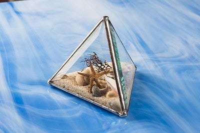 "Beach Kaleidoscope - 4"" Pyramid"