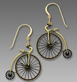 Earrings - Antique Style Velocipede Bicycle - 1769