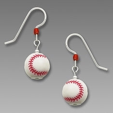 Earrings - 3D Baseball - 1920