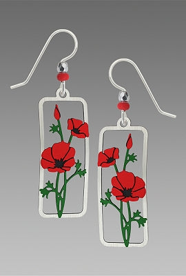 Earrings - Red Poppies - 1933
