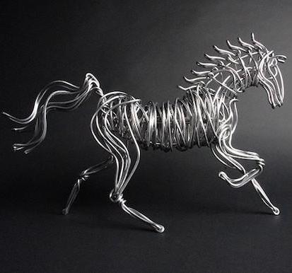 Aluminum Wire Horse - Large