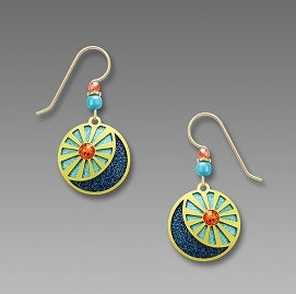 Earrings - Sun and Moon - 7795