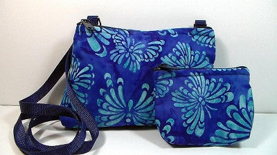 Cross Body Bag/Change Purse - Batik Butterfly
