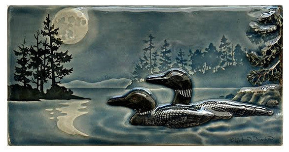 Ceramic Art Tile - New Loons - B39B