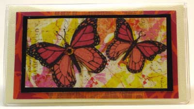 Check Book Cover - Monarch Butterfly - 636