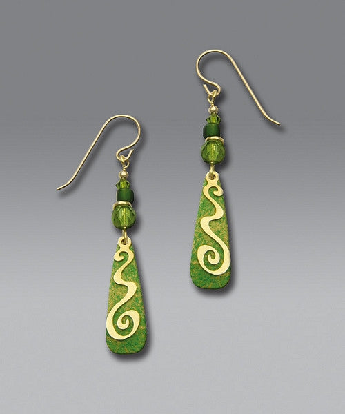 Earrings - Multi Greens - Drop earrings - 7175