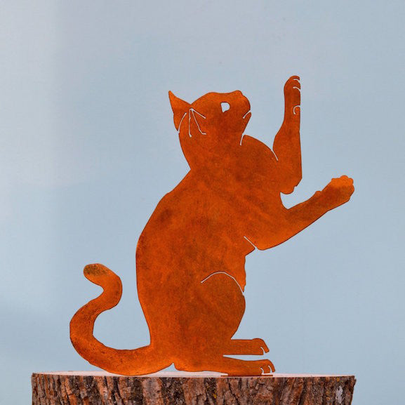Sculpture - Upright Playing Cat - EGD
