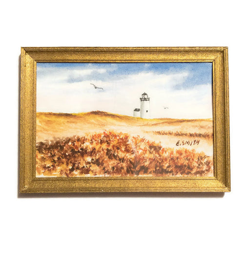 Original - Miniature - 2x3 - Watercolor - Wood End Lighthouse
