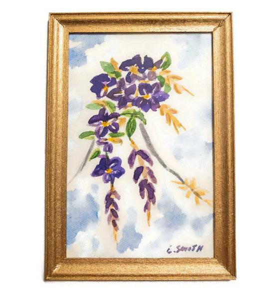 Original - Miniature - 2x3 - Watercolor - Wisteria