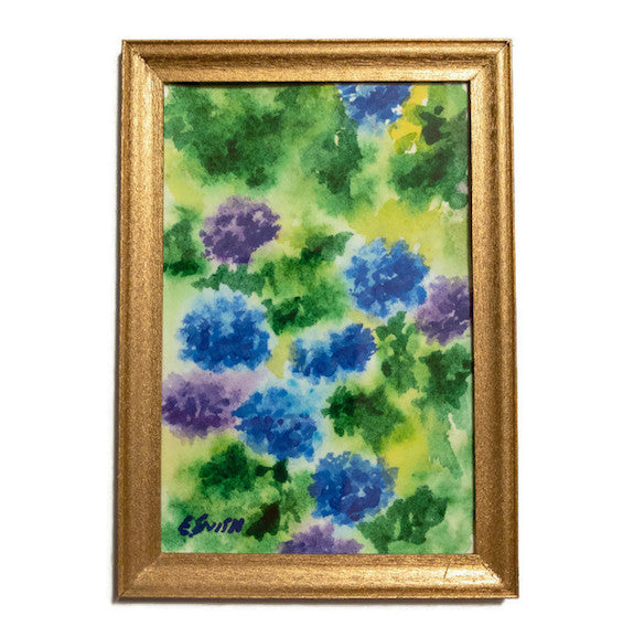 Original - Miniature - 2x3 - Watercolor - Hydrangeas