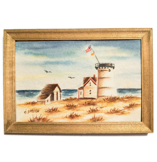 Original - Miniature - 2x3 - Watercolor - Stage Harbor Light - Chatham - 2